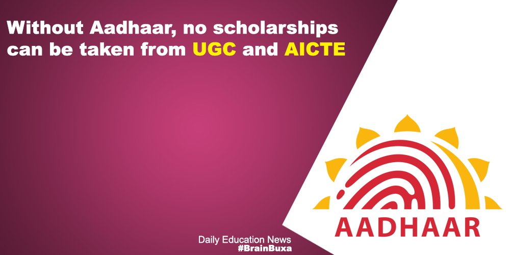 Image of Without Aadhaar, no scholarships can be taken from UGC and AICTE | Education News Photo