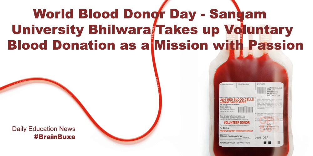 Image of World Blood Donor Day - Sangam University Bhilwara Takes up Voluntary Blood Donation as a Mission with Passion | Education News Photo