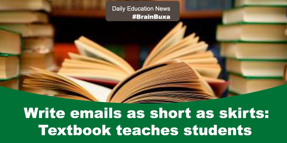Write emails as short as skirts: Textbook teaches students